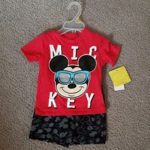 Nwt! Disney Mickey mouse outfit 12 months